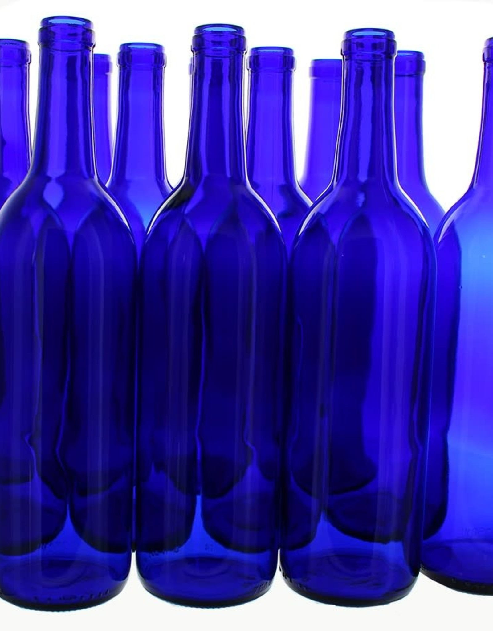 750 ml COBALT BLUE BORDEAUX BOTTLES