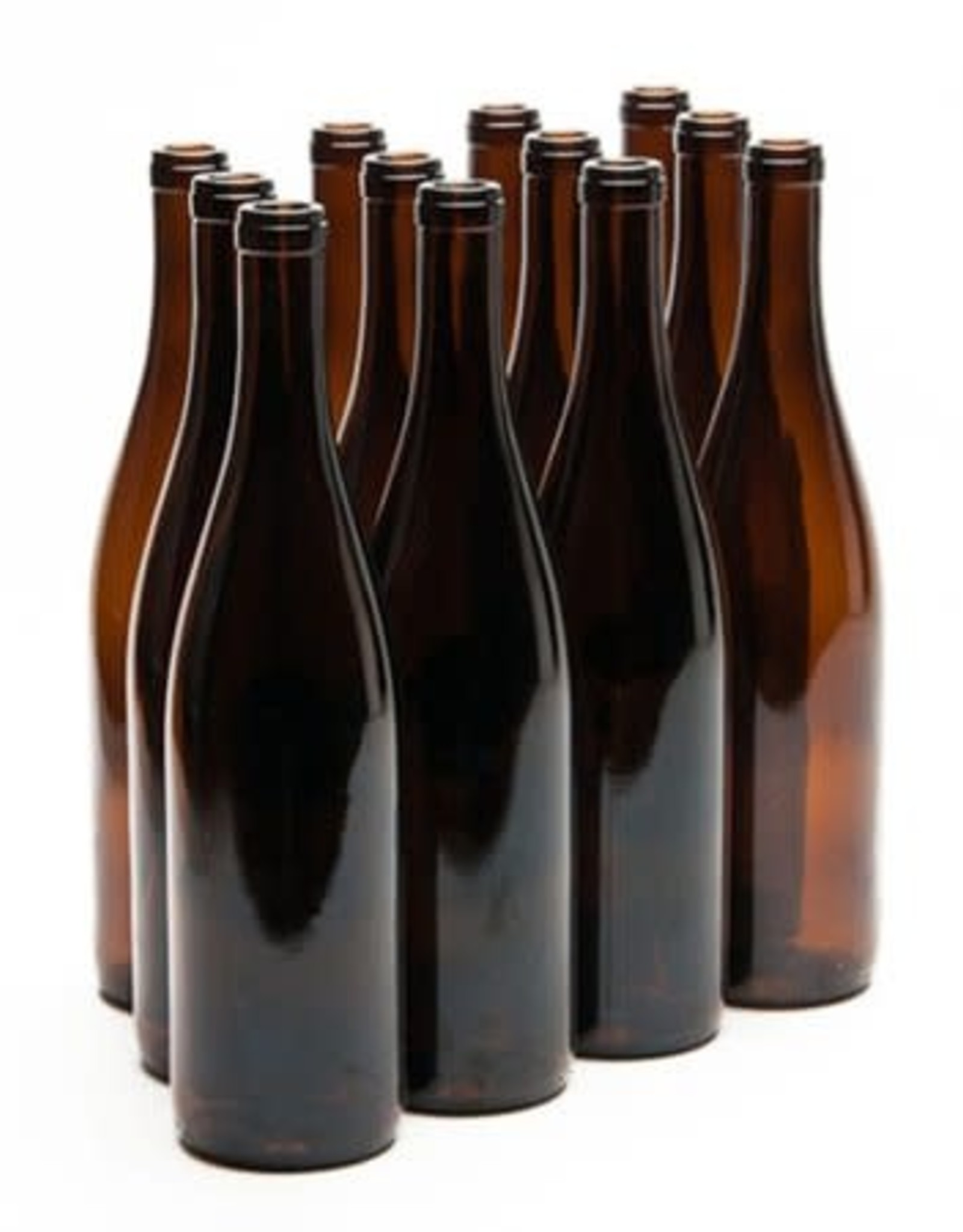 750 ml  AMBER CALIFORNIA HOCK WINE BOTTLES