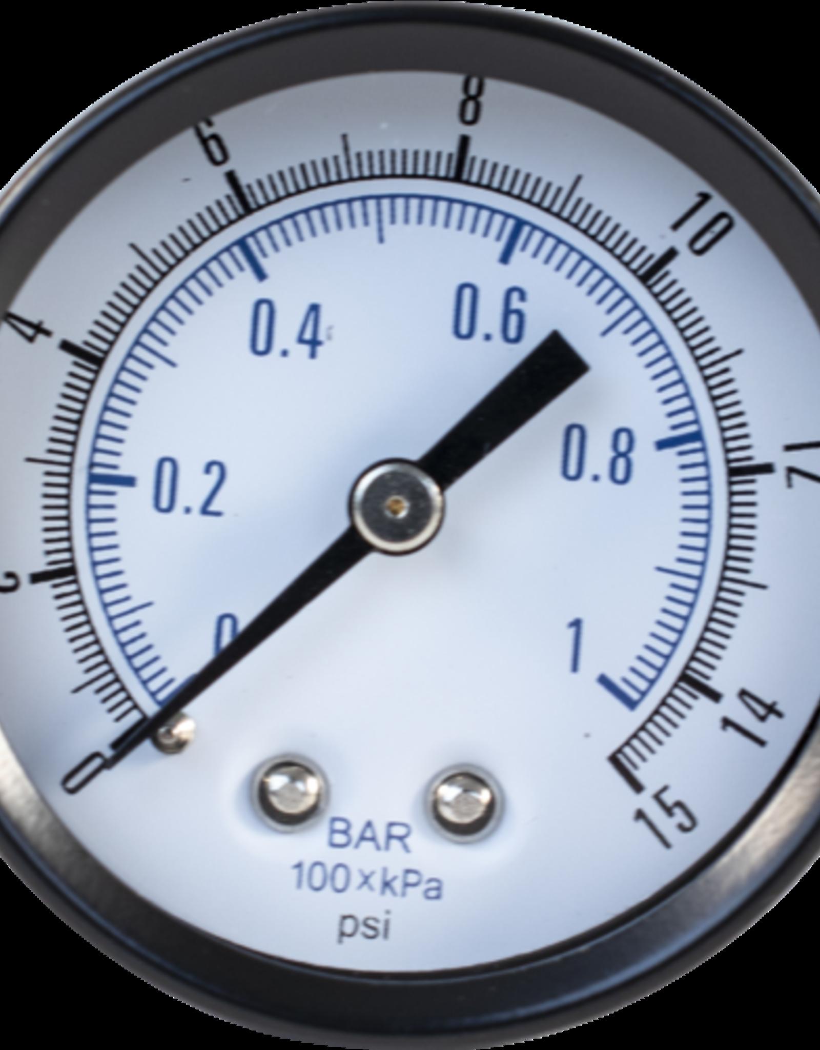 Gauge - Low Pressure Back Mount (1-15lb)