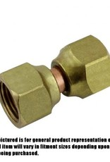 "Brass Swivel Union, 1/4"" FFL x 1/4"" FFL"