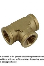 "Brass Pipe Tee, 1/4"" FPT-All"