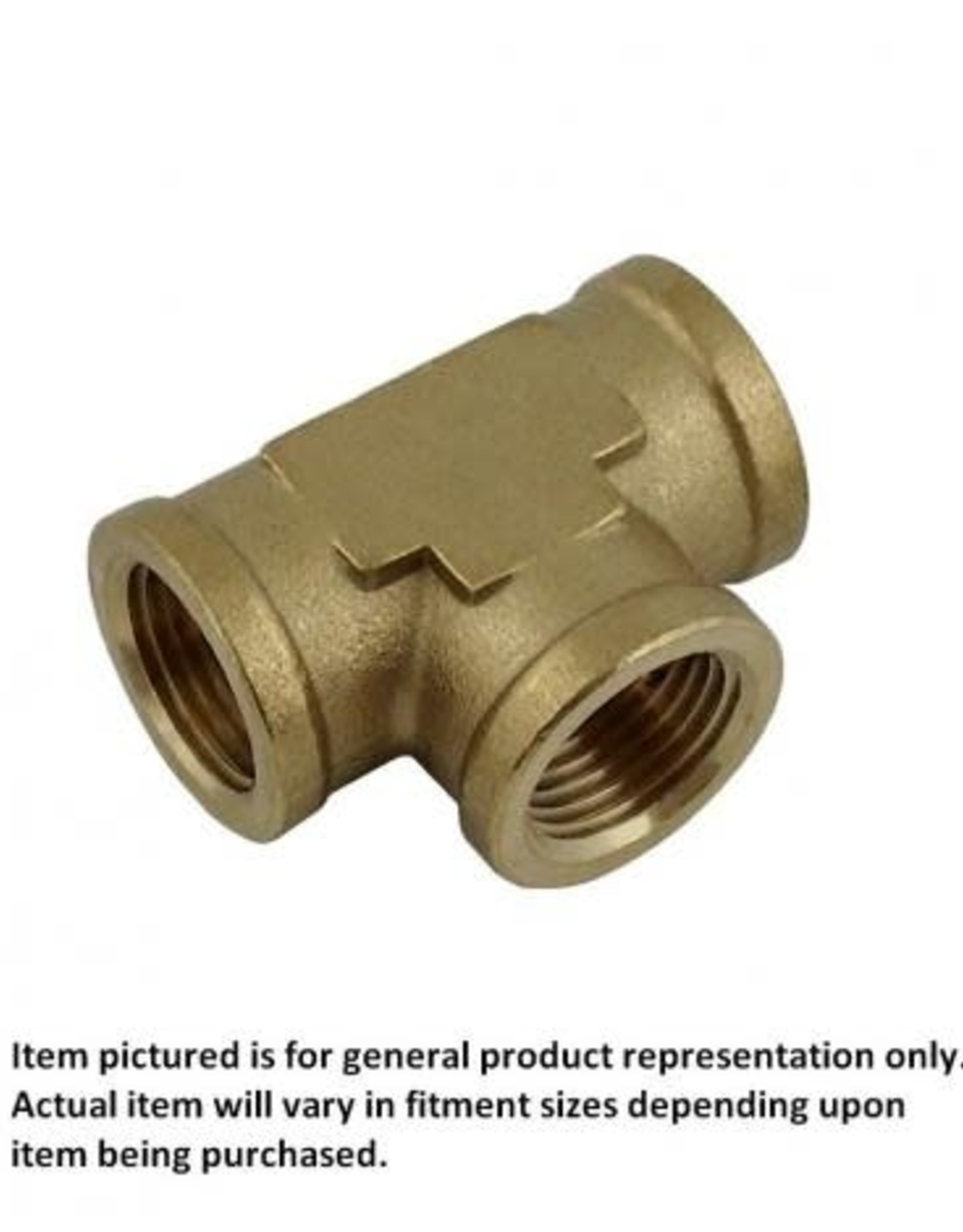 """Brass Pipe Tee, 1/4"""" FPT-All"""