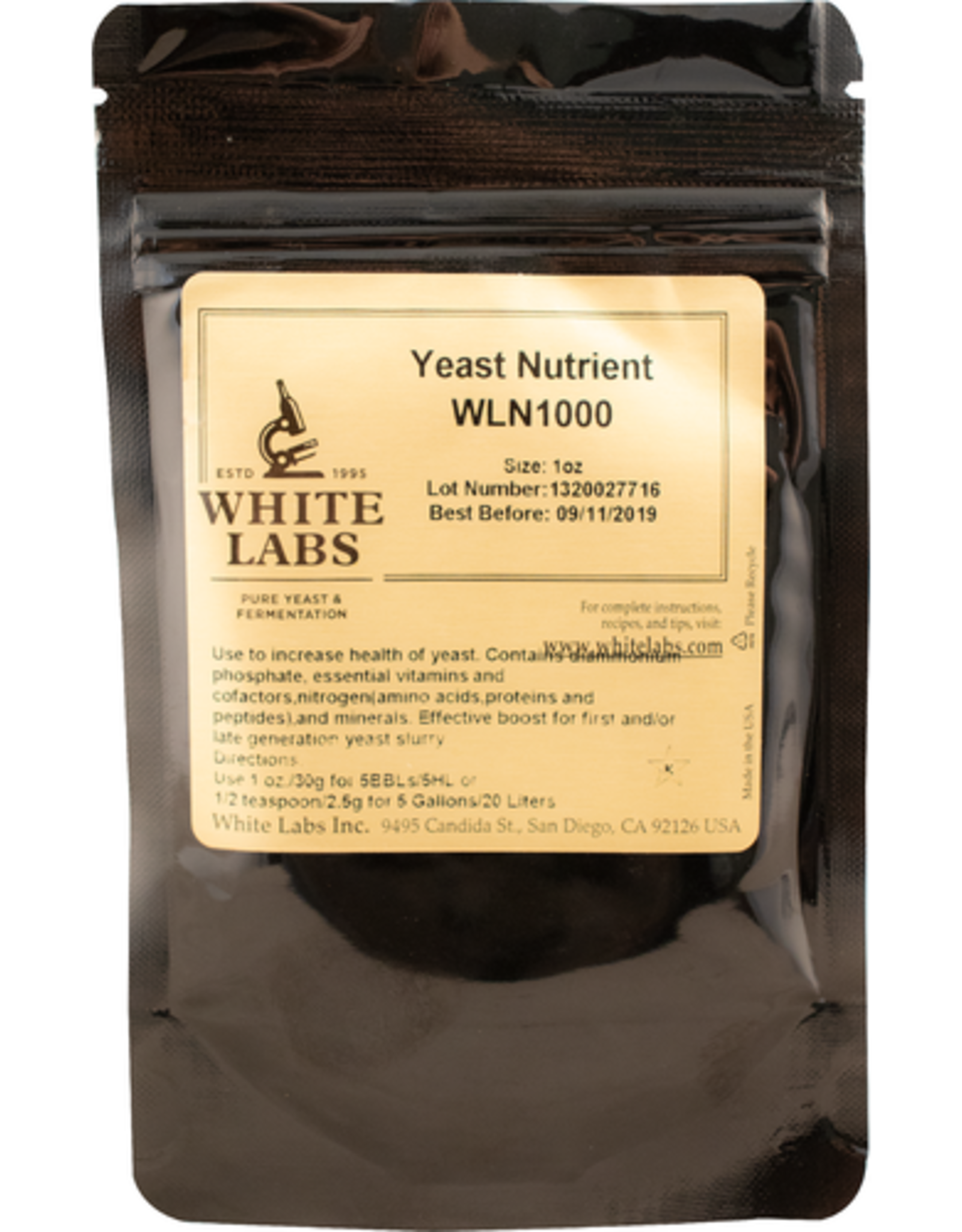 WLN1000- White Labs Yeast Nutrient  1 oz.