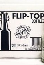 16 OZ CLEAR FLIP-TOP BOTTLES 12/CASE