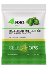HALLERTAU MITTELFRUH Hop Pellets- 1 oz. pkg