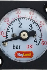 KEG LAND Mini Pressure Gauge (0-60 psi)