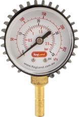 KEG LAND Push-In Pressure Gauge (0-40 psi)