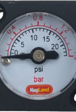 KEG LAND Mini Pressure Gauge (0-23 psi)