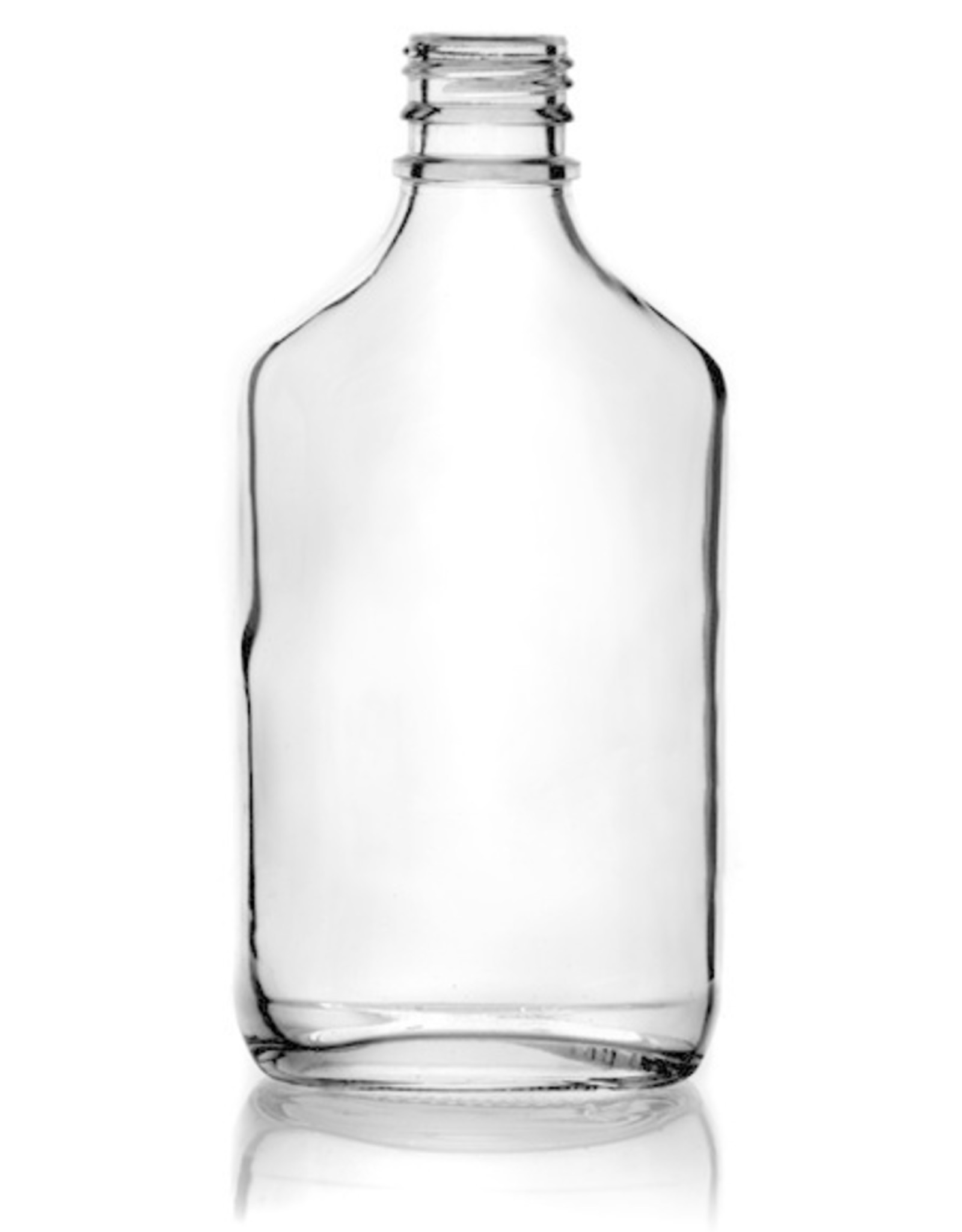200ml Flint (Clear) Glass Flask