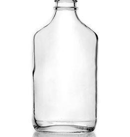 200ml Flint (Clear) Glass Flask single