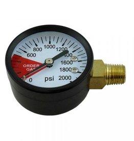 """Gauge, 2"""" Diameter 2000# 1/4"""" MPT (LHT)(Side)"""