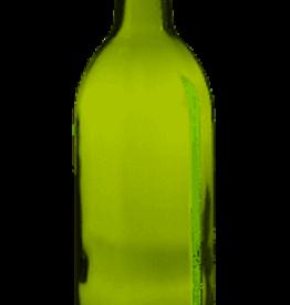 750 ml (LD)CHAMPAGNE GREEN BORDEAUX FLAT BOTTOM WINE BOTTLE 12/CASE single