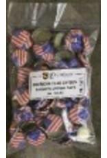 LD CARLSON CAPS-AMERICAN FLAG-BAG OF 144