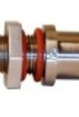 BULKHEAD- STAINLESS STEEL W/ O-RINGS