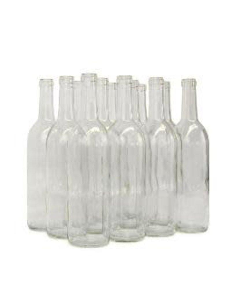 750 ml CLEAR BORDEAUX STYLE BOTTLE