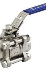 "BALL VALVE THREE PIECE 1/2"" NPT"