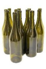 750 ml ANTIQUE GREEN PUNTED  BURGUNDY WINE BOTTLES