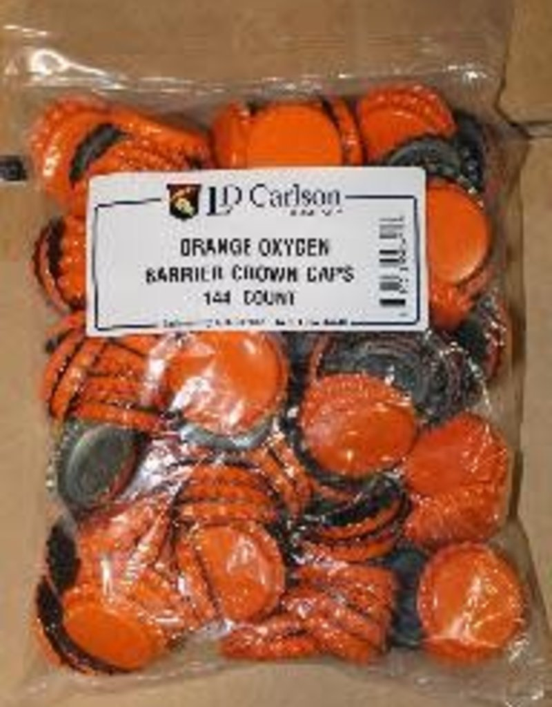 ORANGE CROWN CAPS WITH OXY- LINER 144/BAG