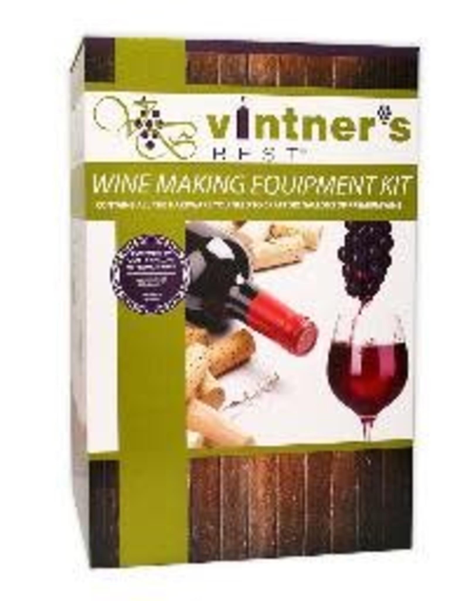 Deluxe Vintner's Best Wine Making Equipment Kit w/glass carboy