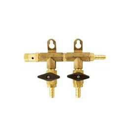 "MANIFOLD 2-WAY BRASS 5/16"" BARB"