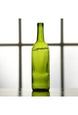 750 ml Emerald Green Bordeaux Bottle, Case of 12