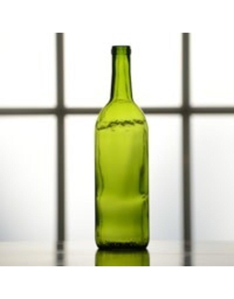 BSG HANDCRAFT 750 ml Emerald Green Bordeaux Bottle, Case of 12