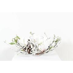 "Centre de Table Magnolia blanc 14"""