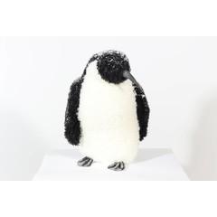Pingouin enneigé blanc/noir 11,5''