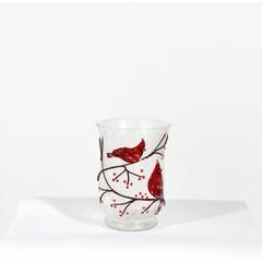 Chandelier verre cardinal 6''