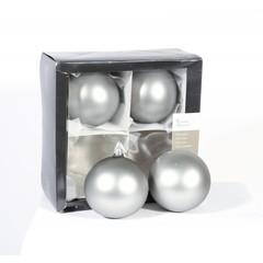 """Boules gris mat 3,9"""" (boite de 4)"""