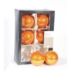 Boules orange  brillant (boite de 6)