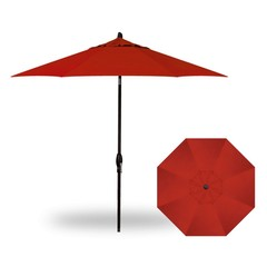 Treasure Garden Parasol 9' Auto Tilt - Red - UM8109