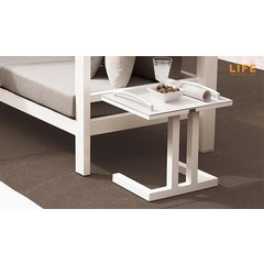 Life Outdoor Living Easy - Table d'appoint - Blanche