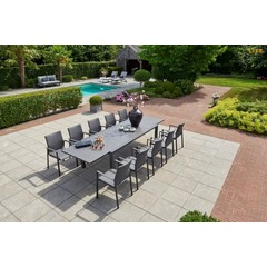 Life Outdoor Living Anabel - Table à diner - Lava 86-133""