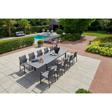"""Life Outdoor Living Anabel - Table à diner - Lava 86-133"""""""
