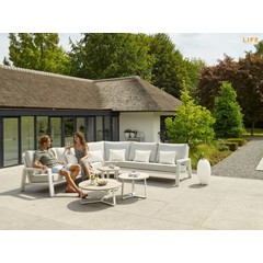 Life Outdoor Living Boston - Sectionnel blanc (4 morceaux)
