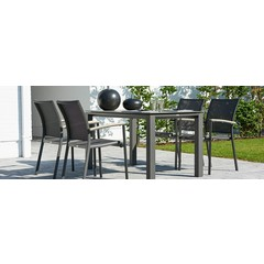 "Life Outdoor Living Concept - Table à diner 82""- Lava ciment"