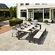 Life Outdoor Living Mixx - Table à diner-  Lava teck 70.8''