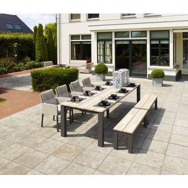 Life Outdoor Living Mixx - Table à diner-  Lava teck 86,6'