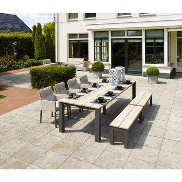 Life Outdoor Living Mixx - Table à diner-  Lava teck 86,6'