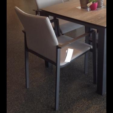 Life Outdoor Living Sense - Chaise à diner - Lava mousse grey
