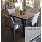 "Life Outdoor Living Concept - Table à diner 36""- Lava ciment"
