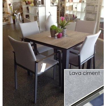 "Life Outdoor Living Concept - Table à diner 36""- Lava ciment"