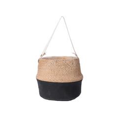 """Cache pot - ciment naturel/noir 4"""""""