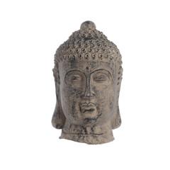 "Tête de bouddha en terre cuite - brun 14,5"""