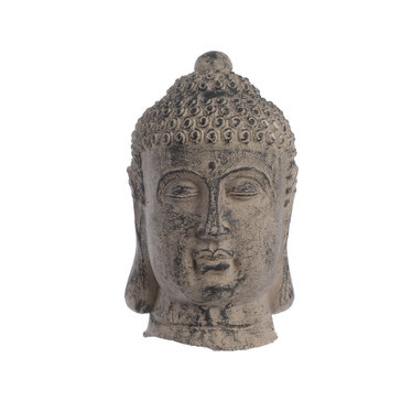 "Tête de bouddha en terre cuite - brun 10"""