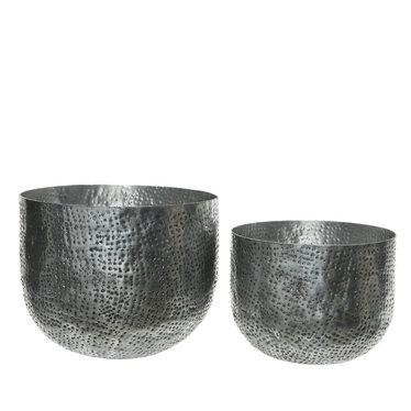 """Cache-pot aluminium - argent (petit) 8"""""""