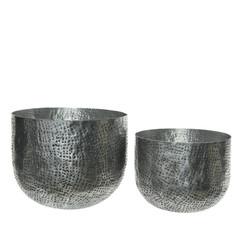 """Cache-pot aluminium - argent (grand) 10,5"""""""