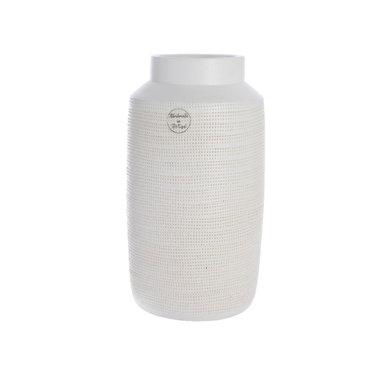 """Vase terre cuite fait main - blanc 6,3"""""""