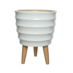 """Cache pot céramique - blanc 12"""""""
